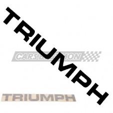 """PEGATINA """"TRIUMPH"""" TRIUMPH TR7 TRASERO NEGRO"""