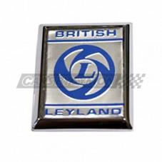 "EMBLEMA LATERAL ""BRITISH LEYLAND"" FONDO PLATA"